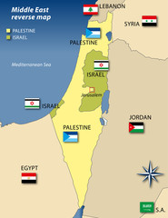 palestine israel reverse map