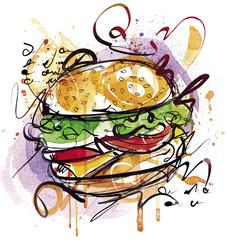 Cheeseburger Drawing