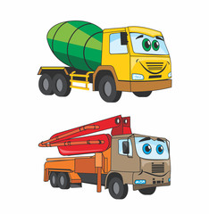 fun cartoon cars which use in building