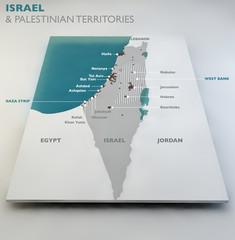 Cartina di Israele e territori palestinesi