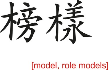 Chinese Sign for model, role models