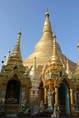 Around Shwedagon Pagoda, Yangoon, Myanmar