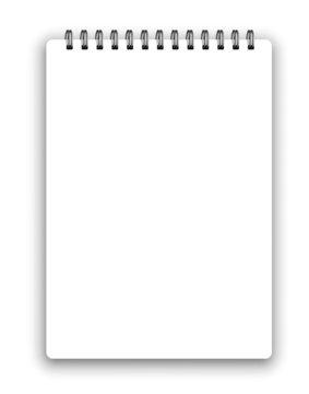 Vertical spiral notepad