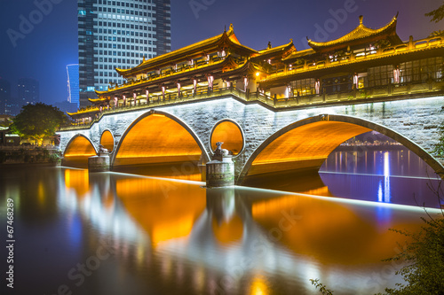 Anshun China  City pictures : Chengdu, China at Anshun Bridge