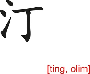 Chinese Sign for ting, olim