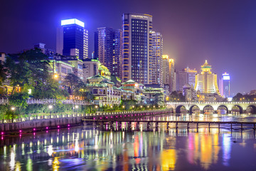 Guiyang, China Nanming River Cityscape