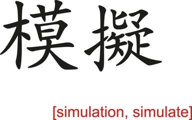 Chinese Sign for simulation, simulate