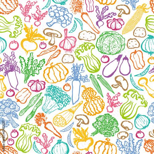 野菜 マルシェ 手描きイラストfotoliacom の ストック画像と
