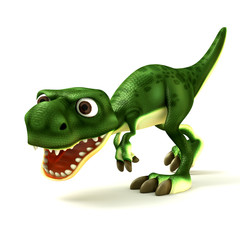 Cartoon of green dinosaurs