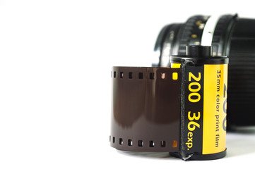 The film strip with camera lens