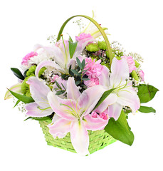 Beautiful Bouquet with Pink Lily