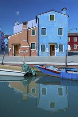 Fototapete - Residential in Burano island, Venice, Italy.