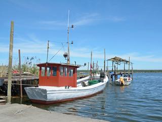 Boddenfischerei am Greifswalder Bodden in Klein Zicker auf Rügen