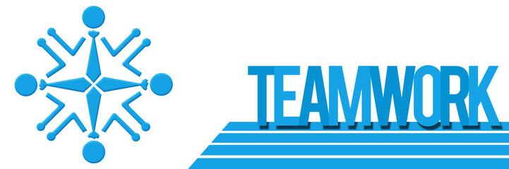 Teamwork Circular Human Blue