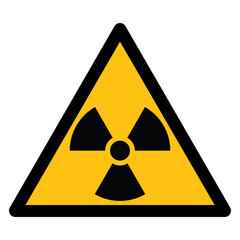 Warning sign, BEWARE RADIATION