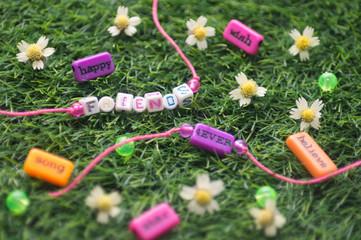 two friendship bracelet