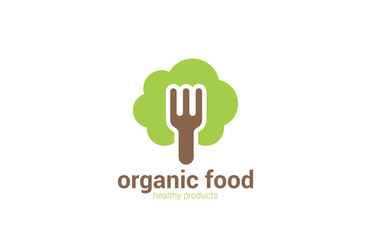 Organic Health Food Ecology vector logo design. Eco icon