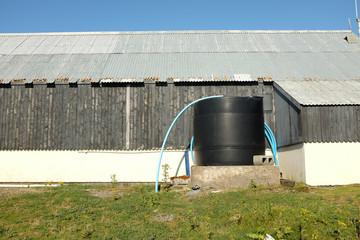 Water storage tank.