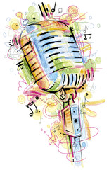 Colorful Mic