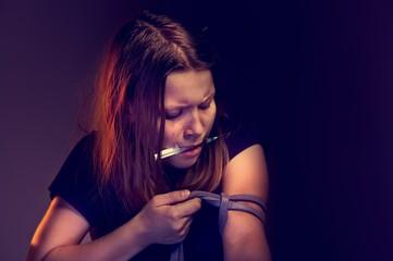 Teen girl addict