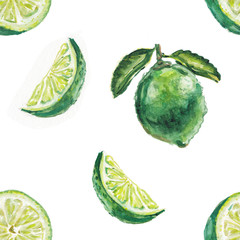 watercolor lime pattern