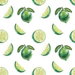 watercolor lime pattern
