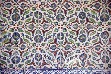 Ancient Handmade Turkish Tiles ,Topkapi Palace
