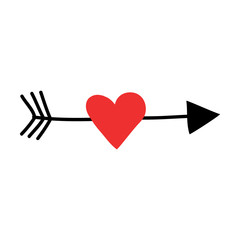 A heart and  arrow