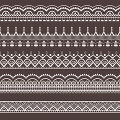 Lace ornament, borders. Seamless pattern