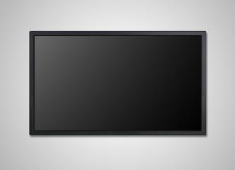 TV display on wall black screen