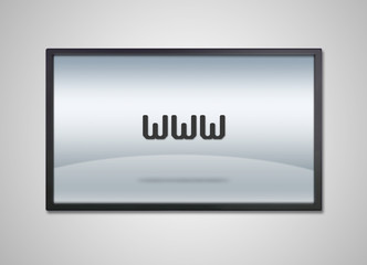 TV display with www icon