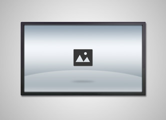 TV display with entertainment image icon