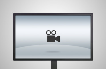 desktop Monitor display with movie icon