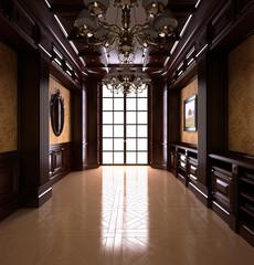 Classical Reading room. Classical interior