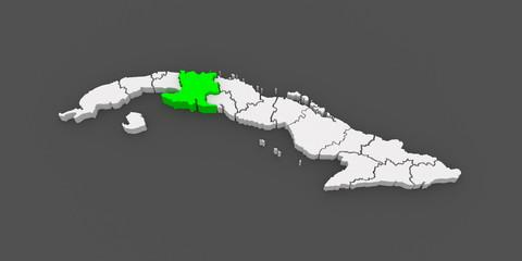 Map of Matanzas. Cuba.