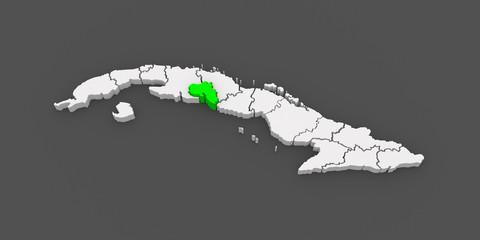 Map of Cienfuegos. Cuba.