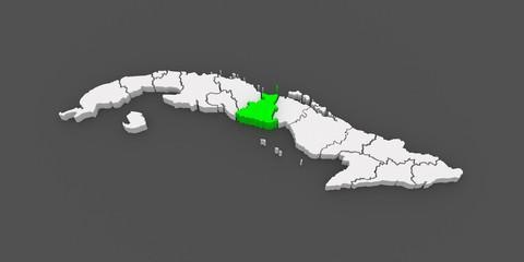Map of Sancti Spiritus. Cuba.