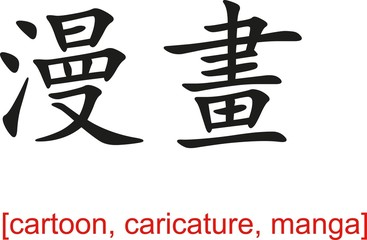 Chinese Sign for cartoon, caricature, manga