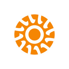Abstract sun sign
