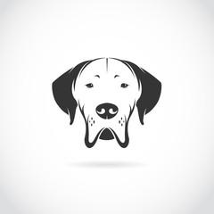 Vector image of dog head