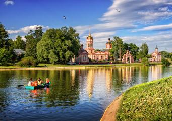 Acrylic Prints City on the water Лето в Алтуфьево