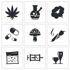 Drugs icon set