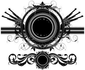 set of ornamental elements