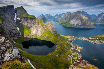 Beautiful Norwegian landscape - view of fjords