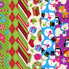 Vector Collection of Christmas and Winter Themed backgrounds
