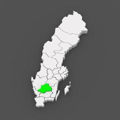 Map of Jonkoping. Sweden.