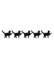5 marschierende stolzierende Cats Team Freunde