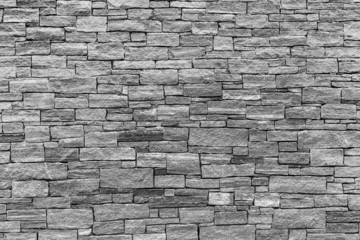 Stone Wall - Horizontal aspect in black and White