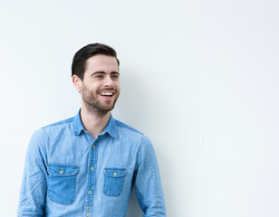 Portrait of a cute guy smiling