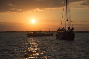 s ships at sundown